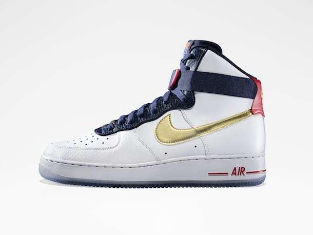 nike air force 1 high team jordan 2012